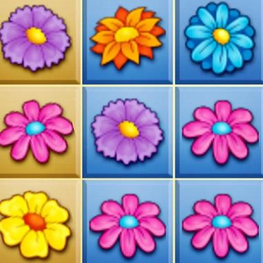 Dopasuj 3 Kwiatki